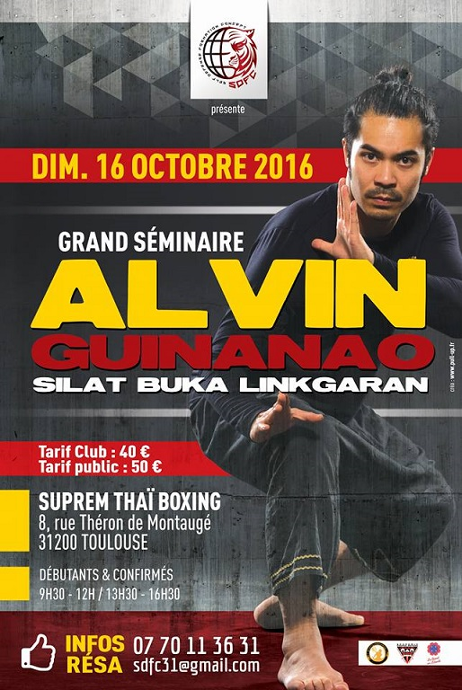 Stage Silat Toulouse Alvin Guinanao