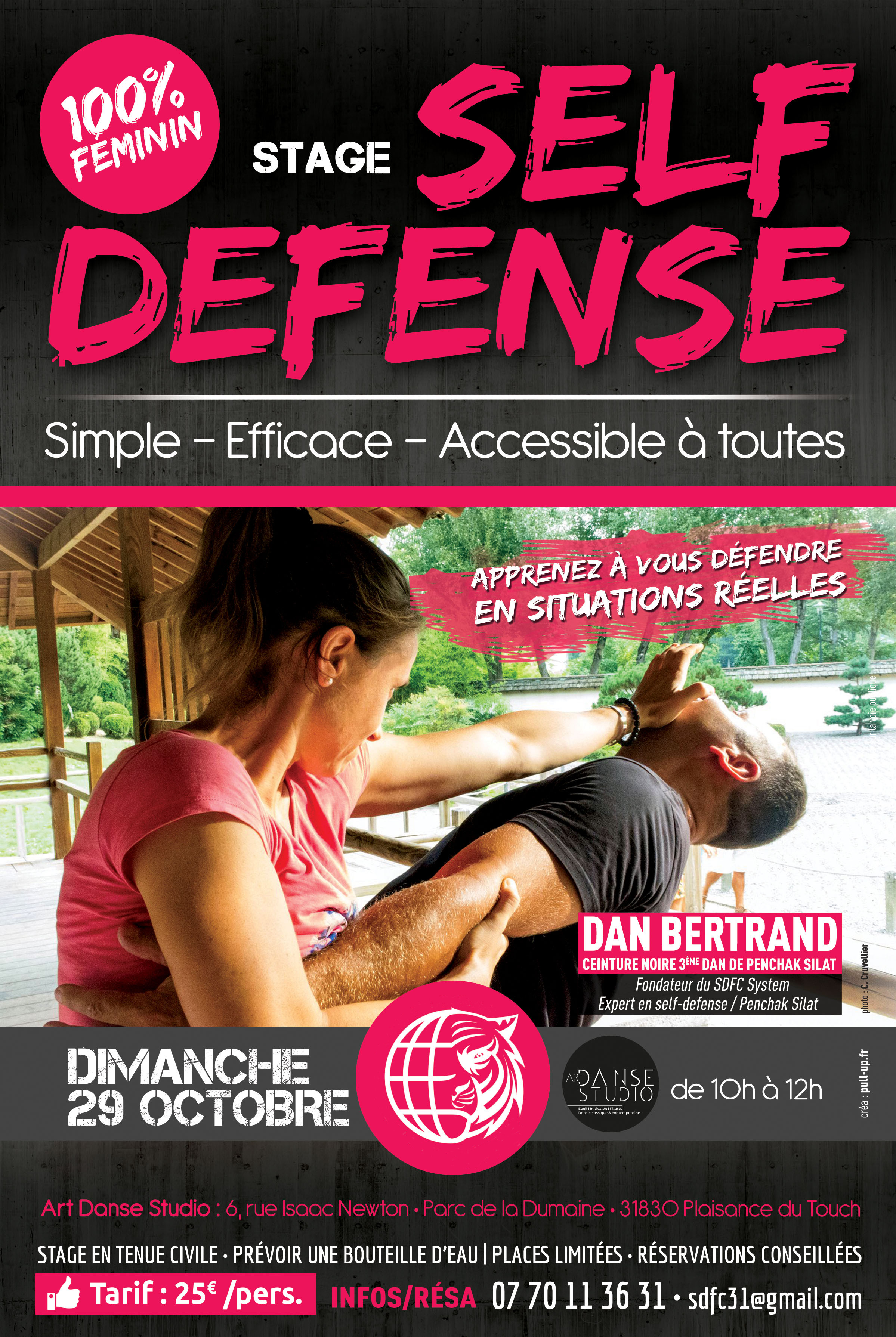 Stage de Self-Défense exclusivement réservé aux femmes.