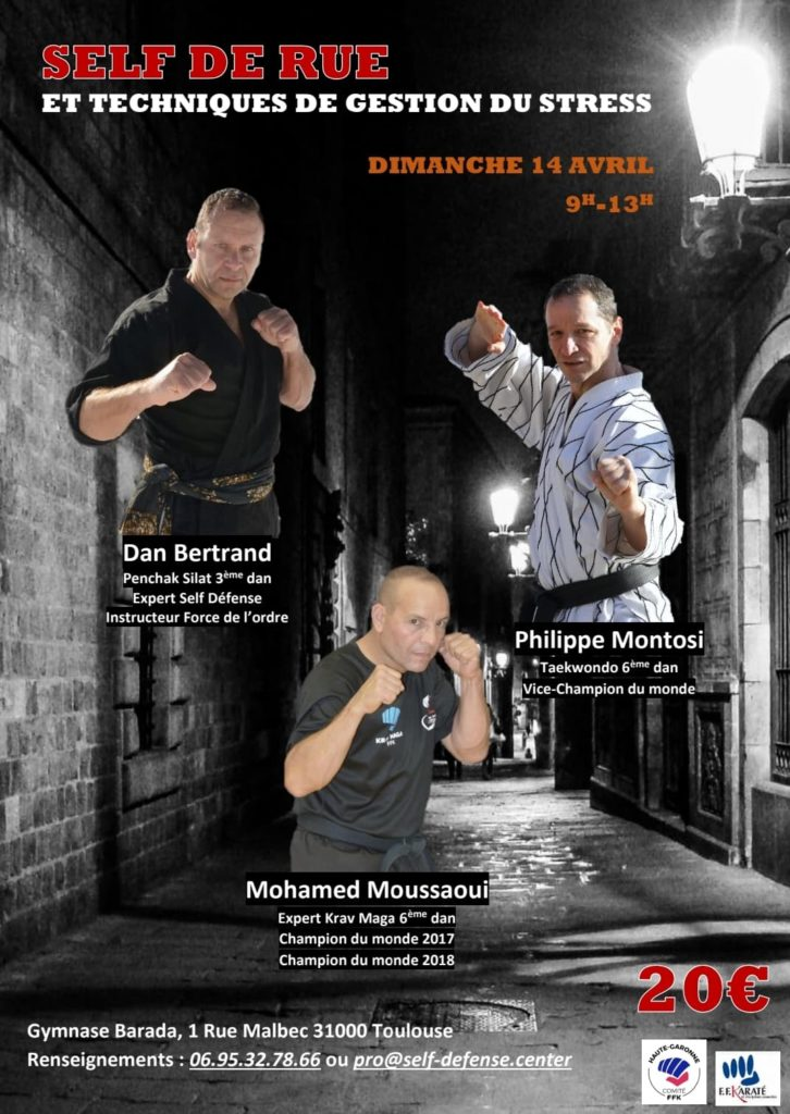 Self-défense avec Dan Bertrand, Philippe Montosi & Mohamed Moussaoui