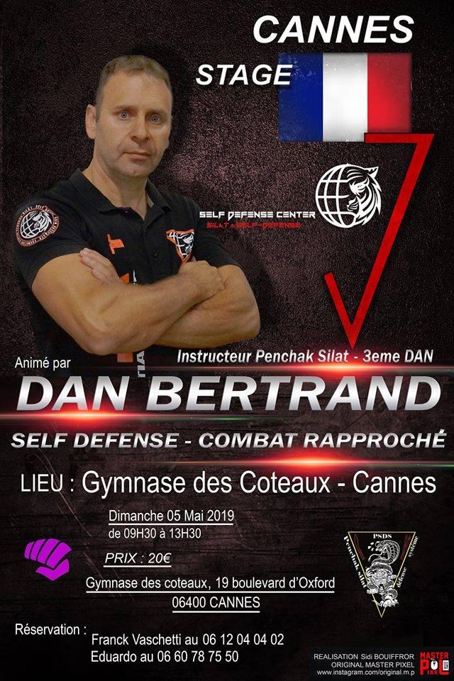 Self-defense et combat rapproché avec Dan Bertrand.