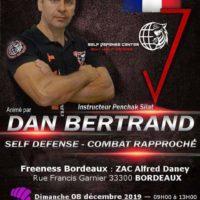 Stage self-défense et combat rapproché avec Dan Bertrand à Bordeaux