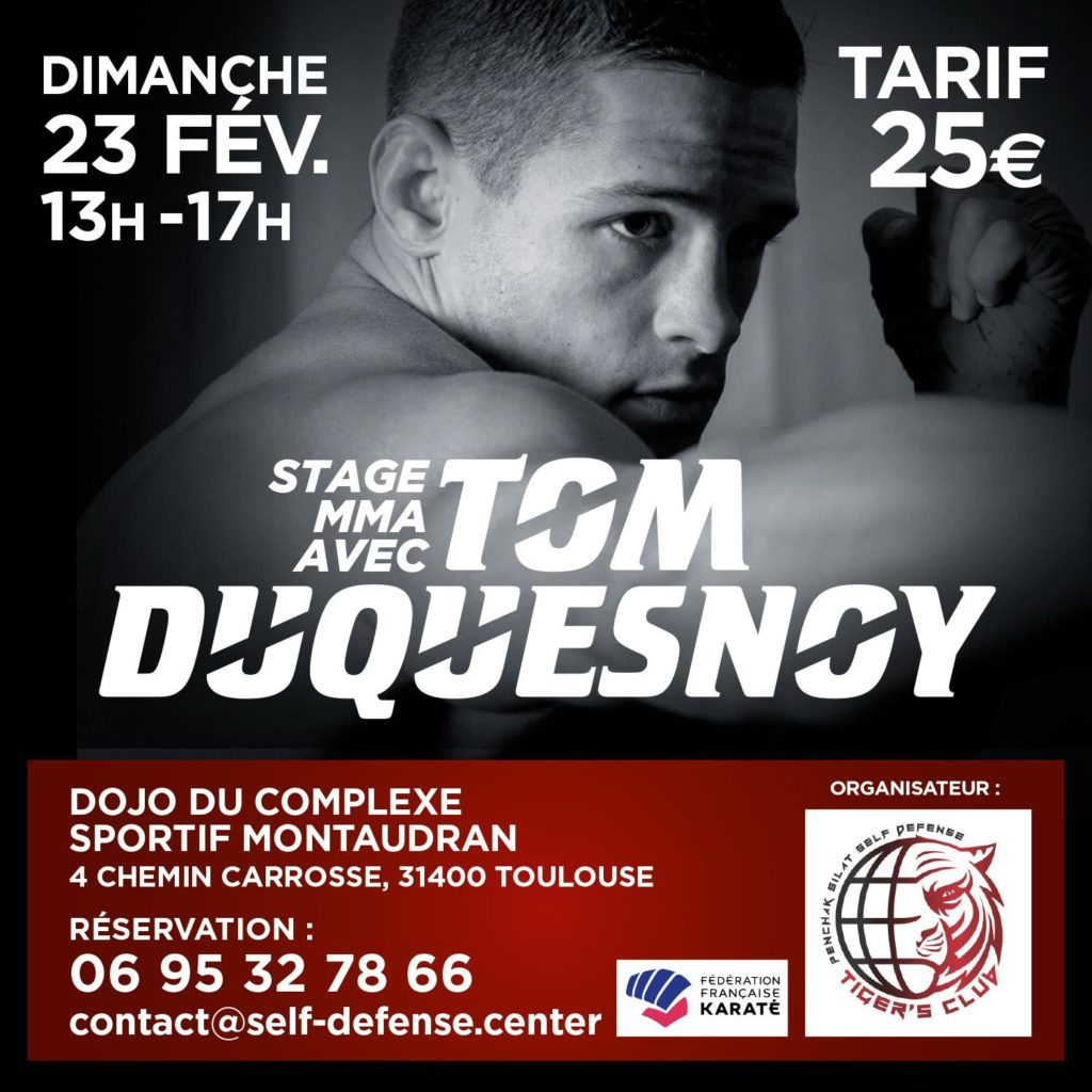 Tom Duquesnoy (MMA) en stage à Toulouse