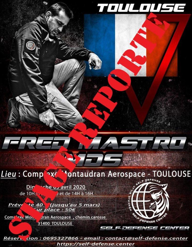 Le stage Fred Mastro à Toulouse prévu initialement pour le Avril 2020 est reporté.
